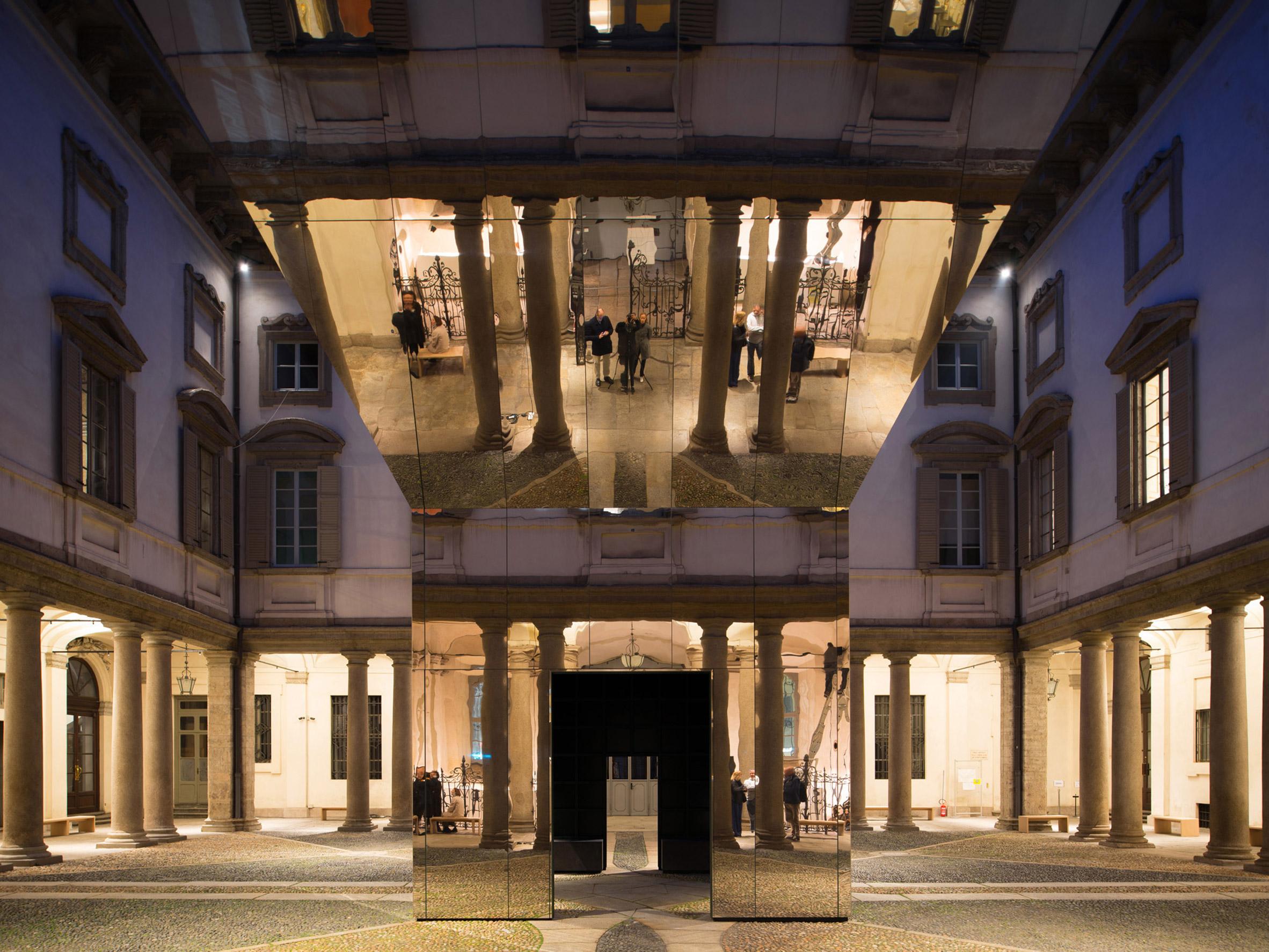 Echo Pavilion by Pezo von Ellrichshausen at Palazzo Litta in Milan