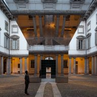 "Pezo von Ellrichshausen turns baroque palazzo upside down with ""magic open box"" installation"