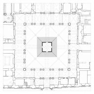 Plan of Echo Pavilion by Pezo von Ellrichshausen at Palazzo Litta in Milan
