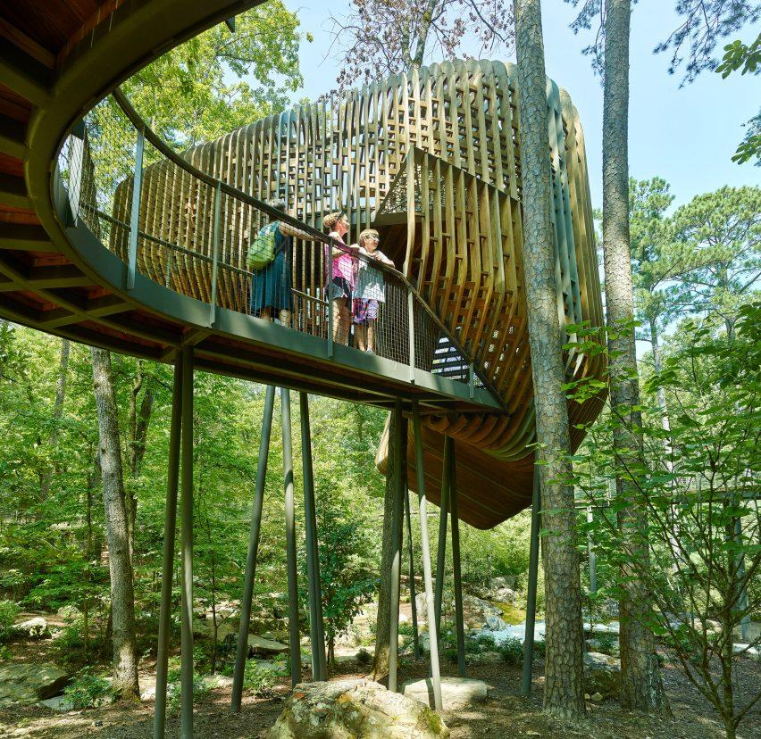 Evans Tree House in Garvan Woodland Gardens Arkansas by Modus Studio