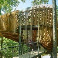 Evans Tree House in Garvan Woodland Gardens Arkansas by Modus Studio