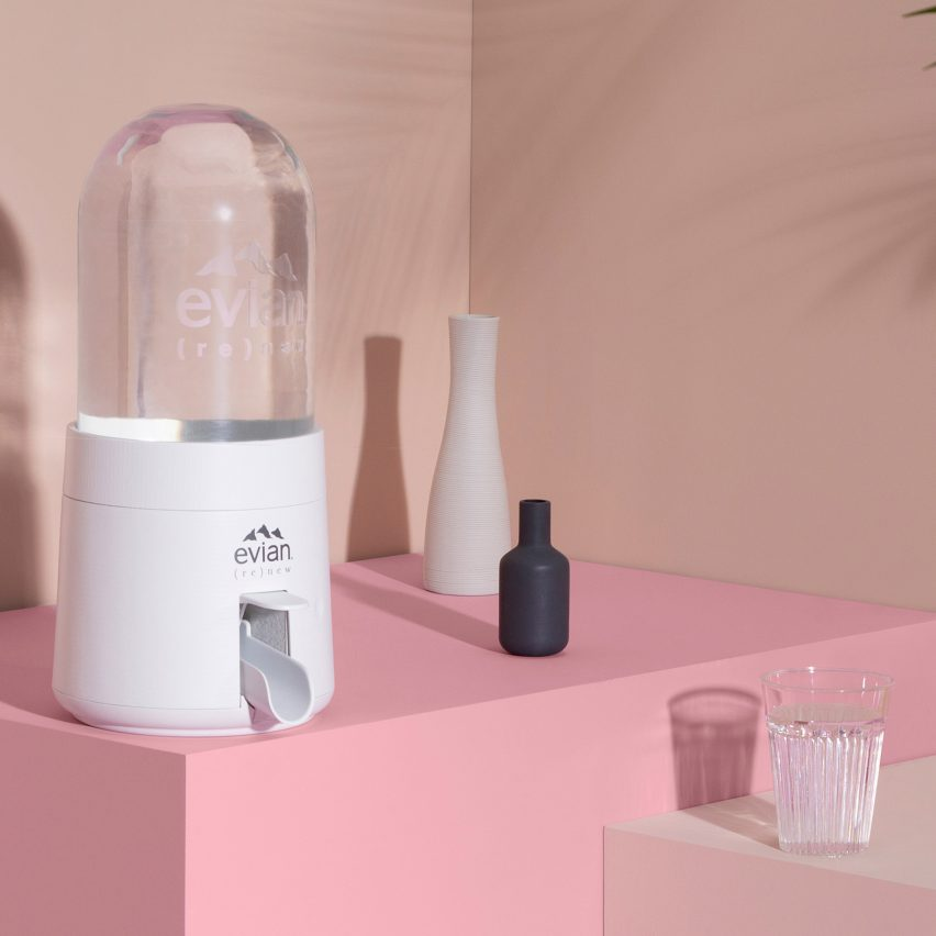 """Evian to launch collapsible """"bubble"""" to combat plastic waste"""