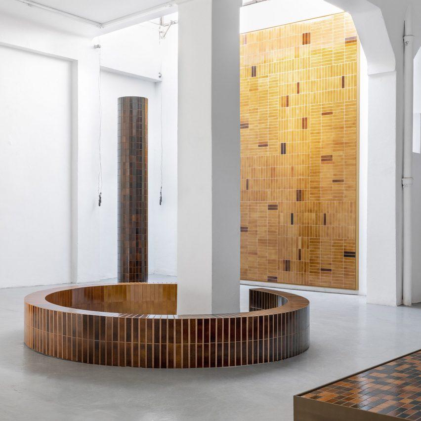 Formafantasma and Dzek create collection of volcanic-ash-glazed tiles
