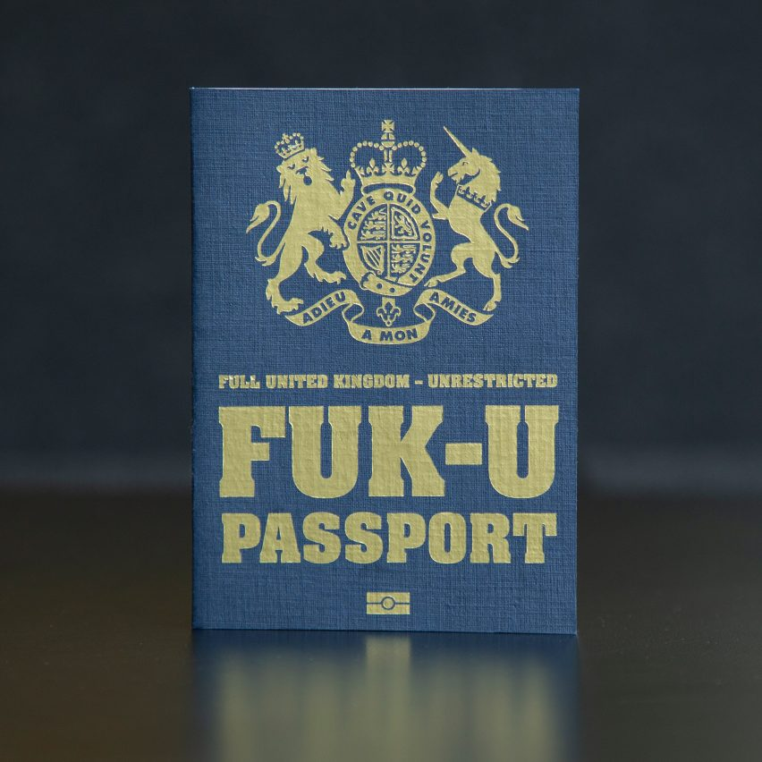 Mark Noad's FUK Brexit passport design