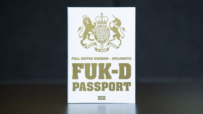 "Mark Noad's FUK Brexit passport design ""truly represents"" the political situation"