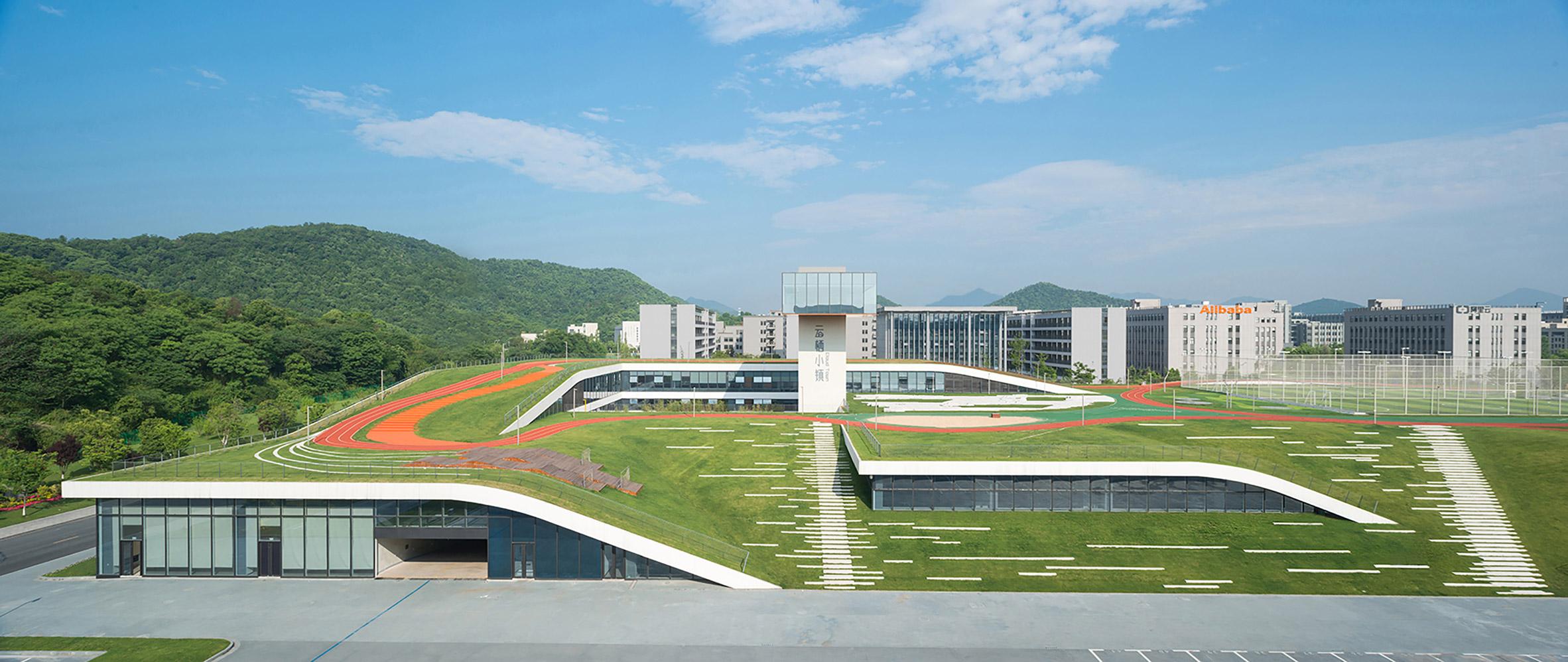 Новый комплекс с озелененной крышей в Ганчжоу