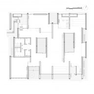 Floor plan of Hannae Forest of Wisdom by Unsangdong Architects Coorperation