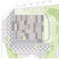 Site plan of Hannae Forest of Wisdom by Unsangdong Architects Coorperation
