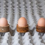 Basse Stittgen gives discarded eggs new life as bioplastic tableware