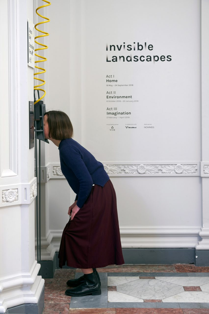 Invisible Landscapes installation at the Royal Academy of Arts