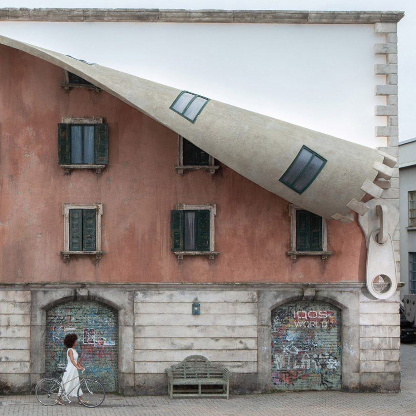 Alex Chinneck installation at Milan design week