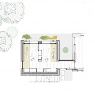Ground floor plan of Library Lookout by Tierney Haines Architects