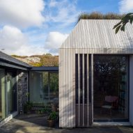 Tierney Haines Architects adds lavender-topped writer's study to a house in Ireland
