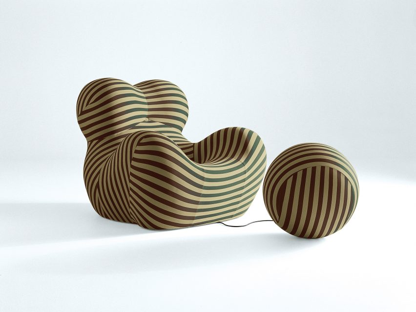 50th anniversary edition of the Up5 armchair and Up6 footstool by Gaetano Pesce