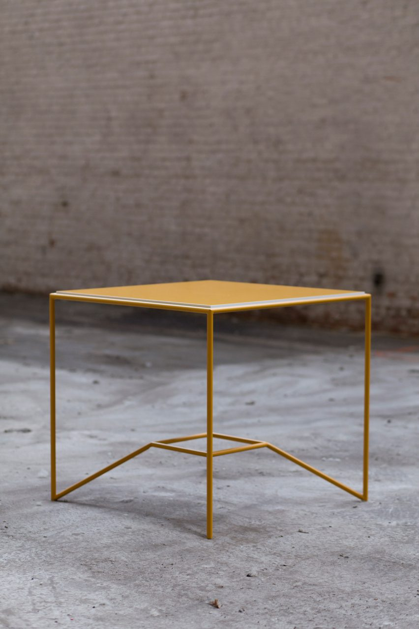 Maria Scarpulla's tables with flippable tops are designed to suit your mood