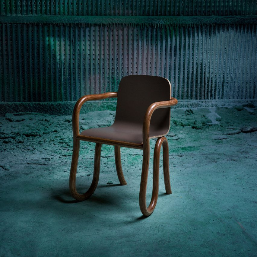 Matthew Day Jackson creates Kolho furniture using moon-inspired Formica