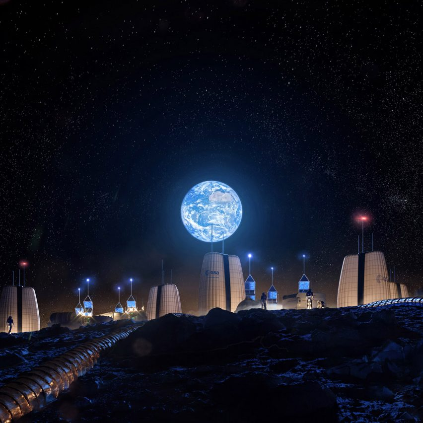 SOM designs inflatable Moon Village to be first-ever lunar habitat