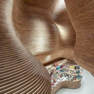 Cave-like gift shops created by Koichi Takada Architects inside National Museum of Qatar