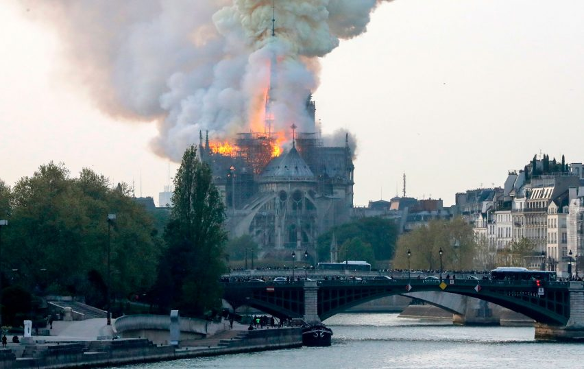 Notre-Dame Cathedral on fire