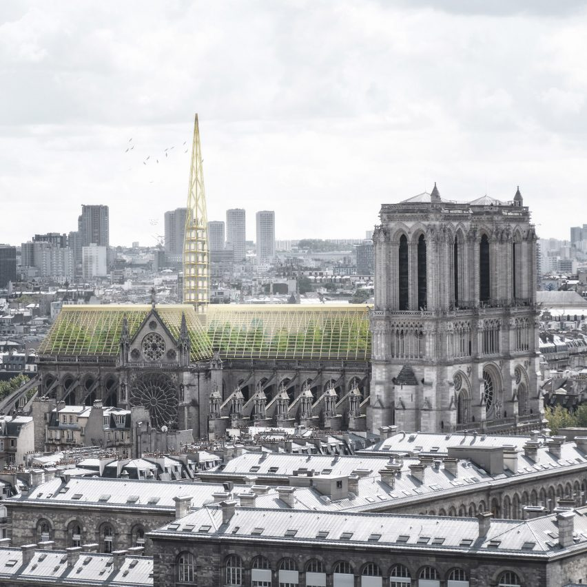 Notre-Dame Cathedral greenhouse roof by NAB Studio