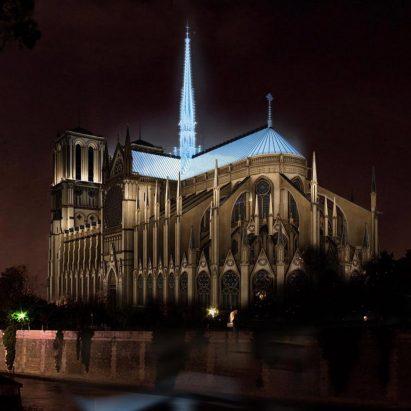 Studio Fuksas' proposal for Notre Dame's new spire
