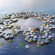 BIG unveils Oceanix City concept for floating villages that can withstand hurricanes