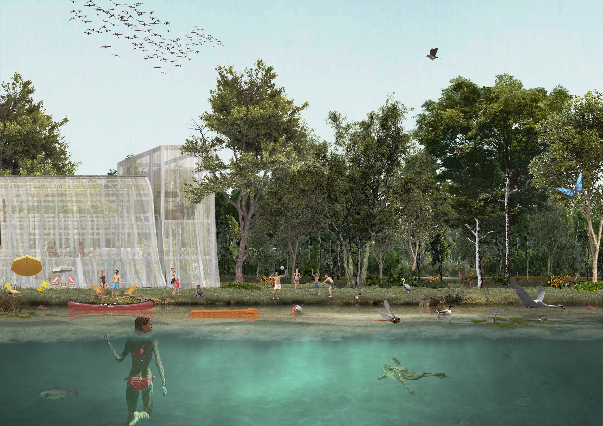 The Scalo San Cristoforo goods yard in the Agenti Climatici masterplan for Milan by OMA and Laboratorio Permanente