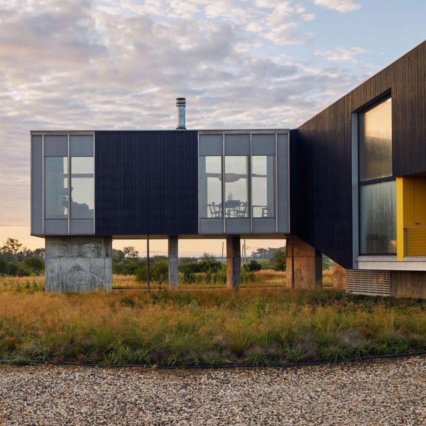 Ryall Sheridan raises Wetlands House above coastal site on New York's Long Island