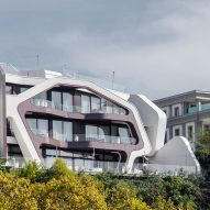 J Mayer H builds concrete-framed Pipia Panorama house on a cliff in Tbilisi