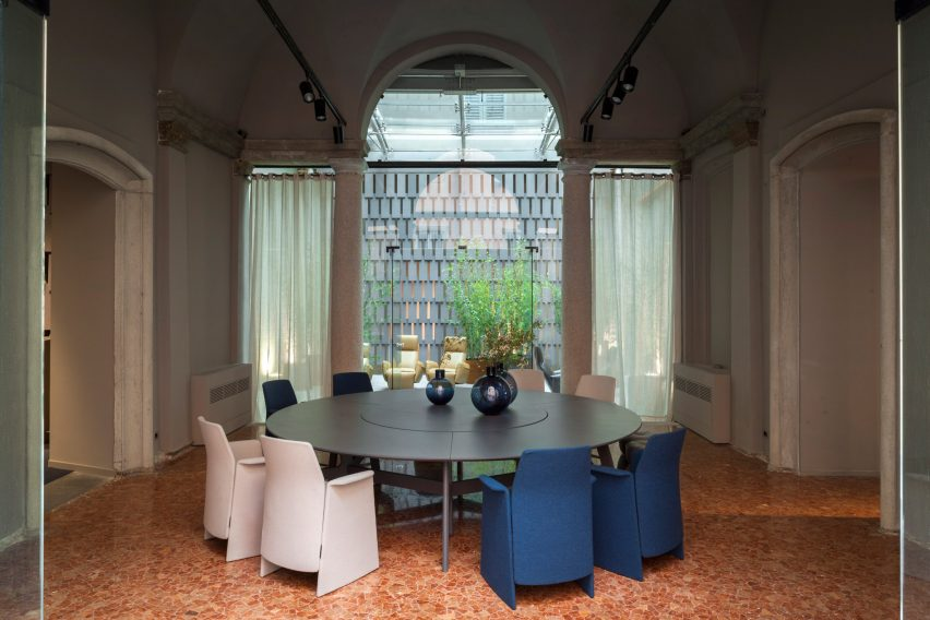 Michele De Lucchi takes over Poltrona Frau showroom for Milan Design Week