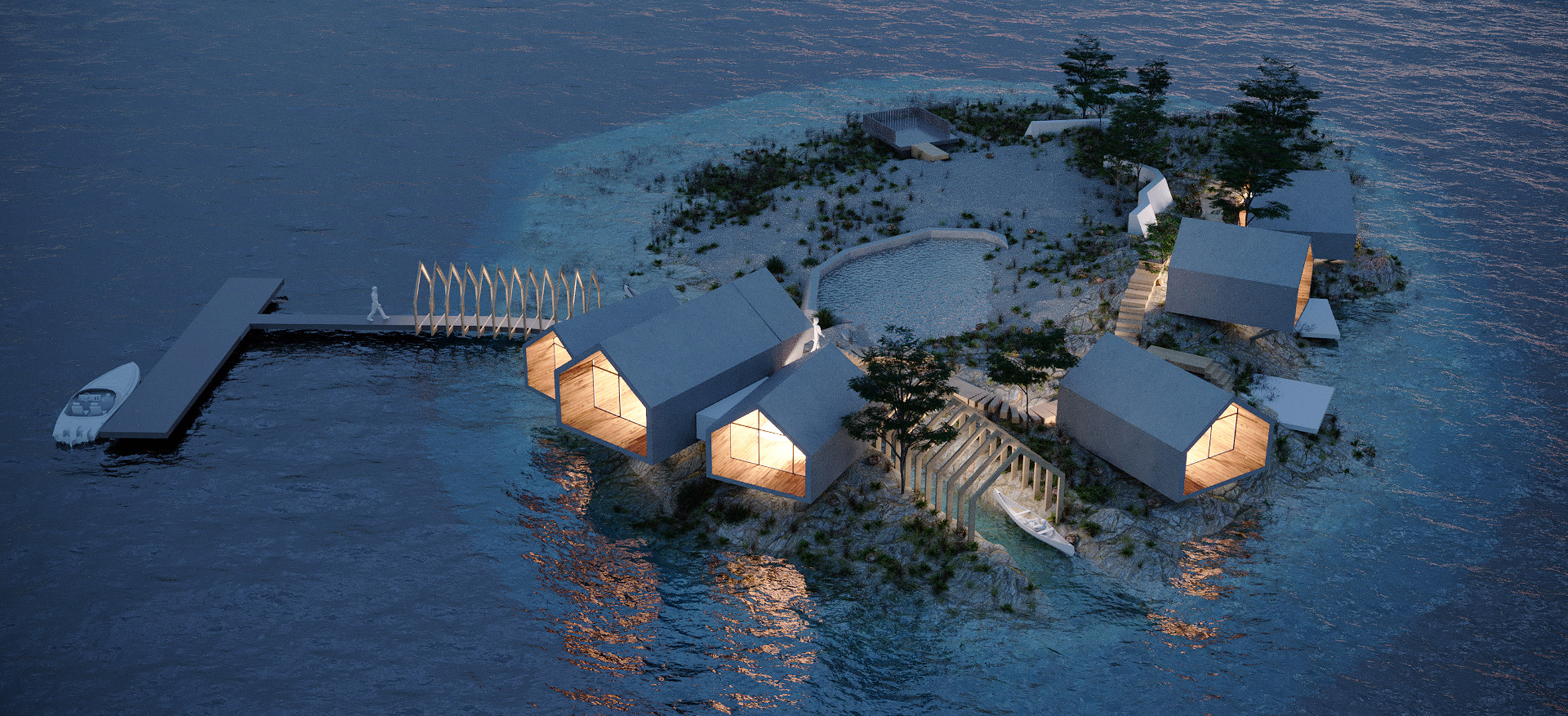 Rat Island private island boutique resort in New York City by Jendretzki Design