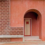 Martin Lejarraga wraps Spanish mountain refuge in red bricks and tiles