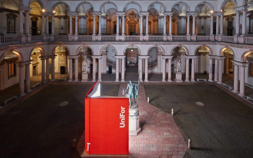 Ron Gilad Installation for UniFor at Palazzo di Brera in Milan