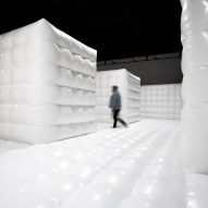 Cj Hendry installs white bouncy house modelled on psychiatric ward for Brooklyn exhibit
