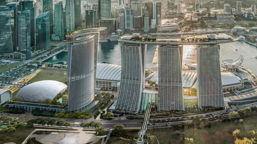Marina Bay Sands resort expansion by Safdie Architects