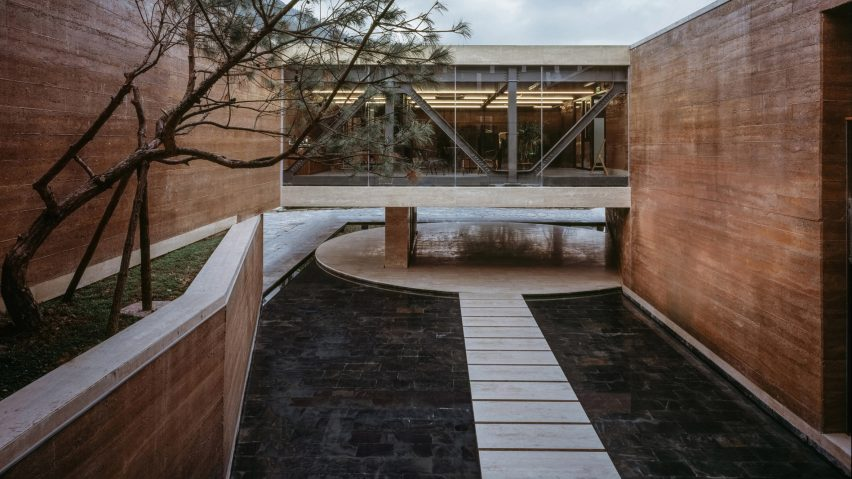 Rammed-earth architecture features on one of our Pinterest