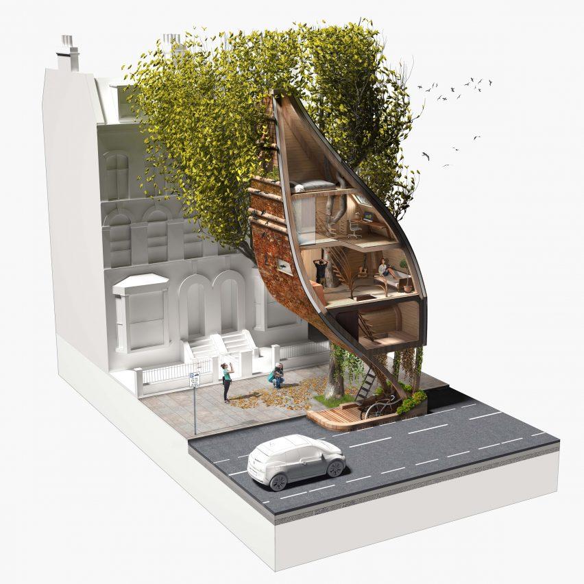 Street Tree Pods by Matthew Chamberlain
