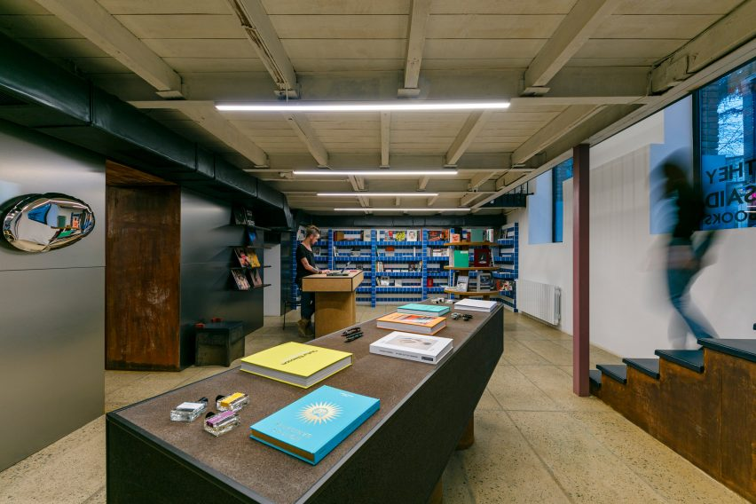 Interiors of They Said Books shop, designed by Lado Lomitashvili