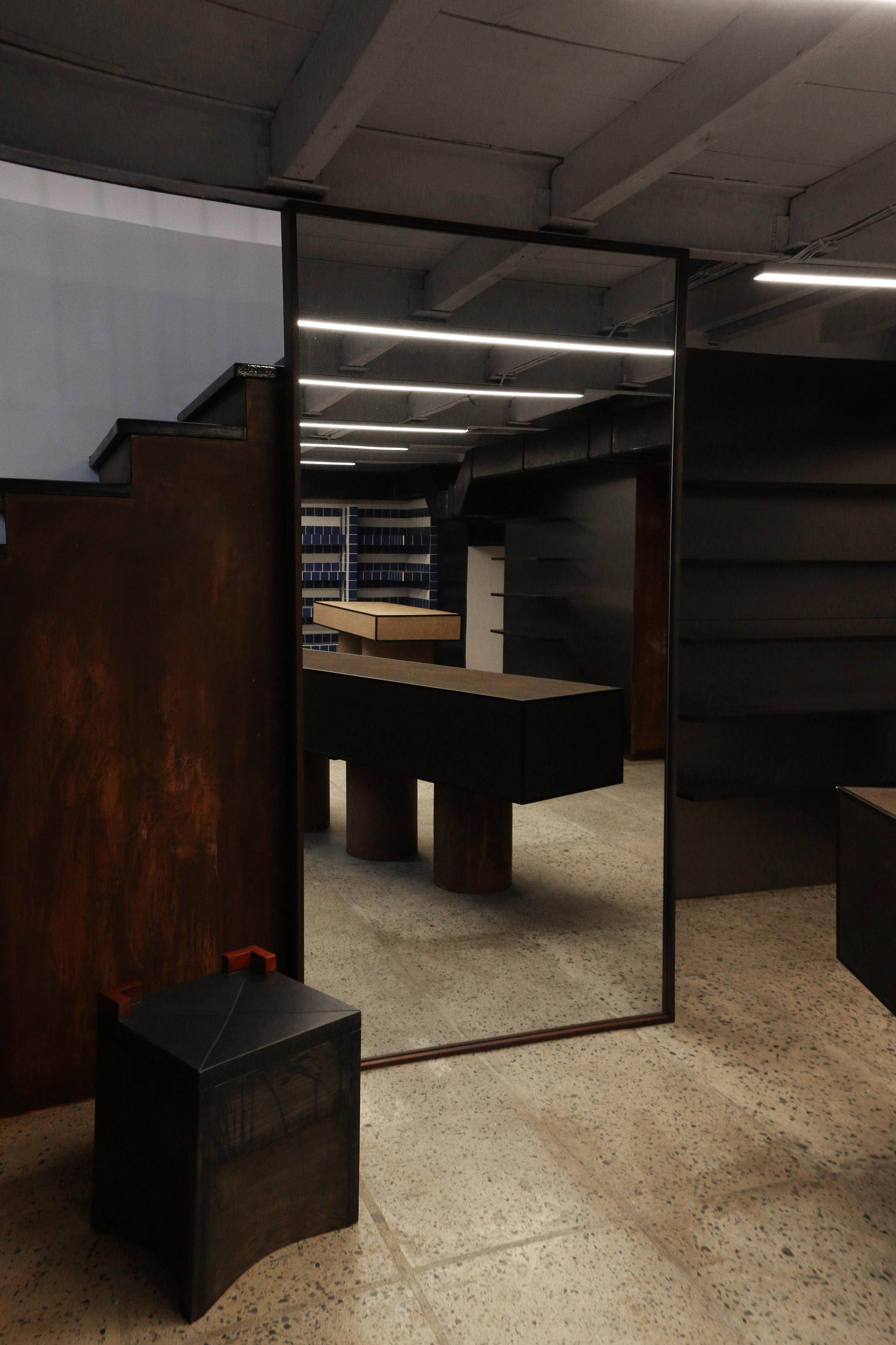 Interiors of They Said Books shop, designed by Lado Lomitashvili