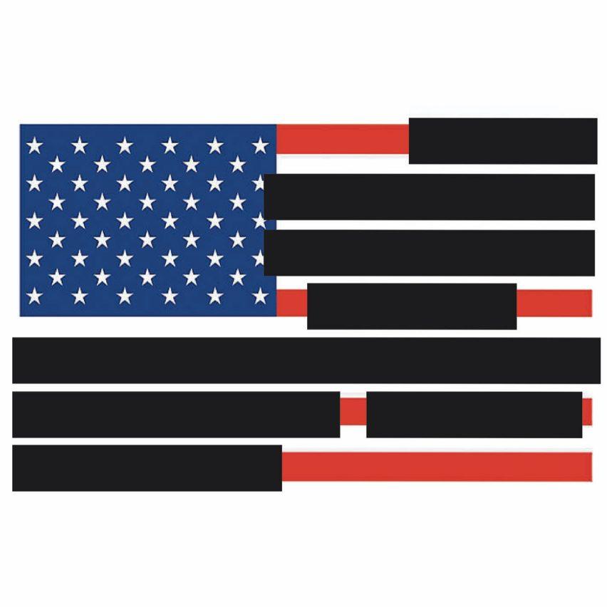 Redacted US Flag by Tucker Viemeister