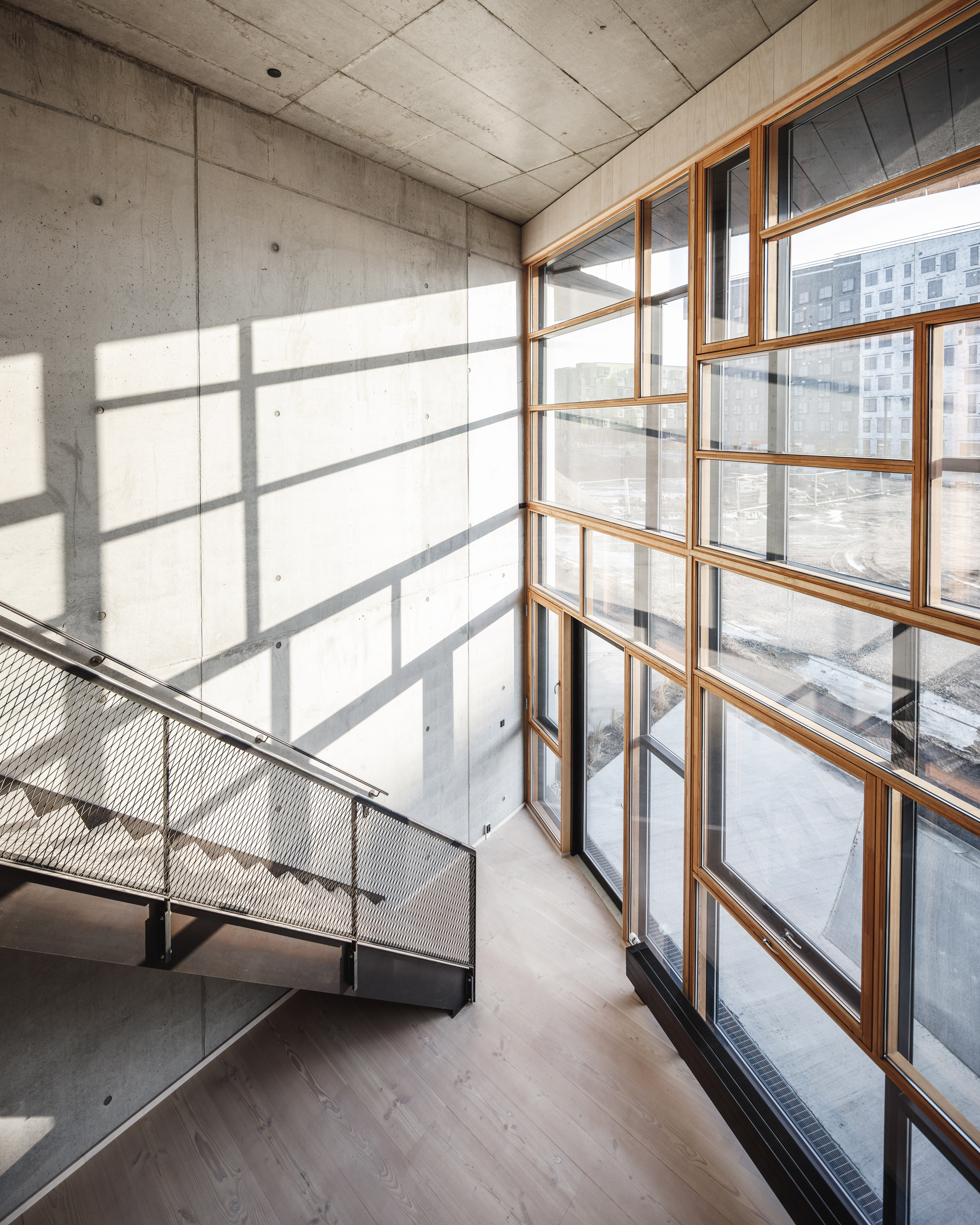 Lendager Group design Upcycle Studios in Denmark built from recycled materials