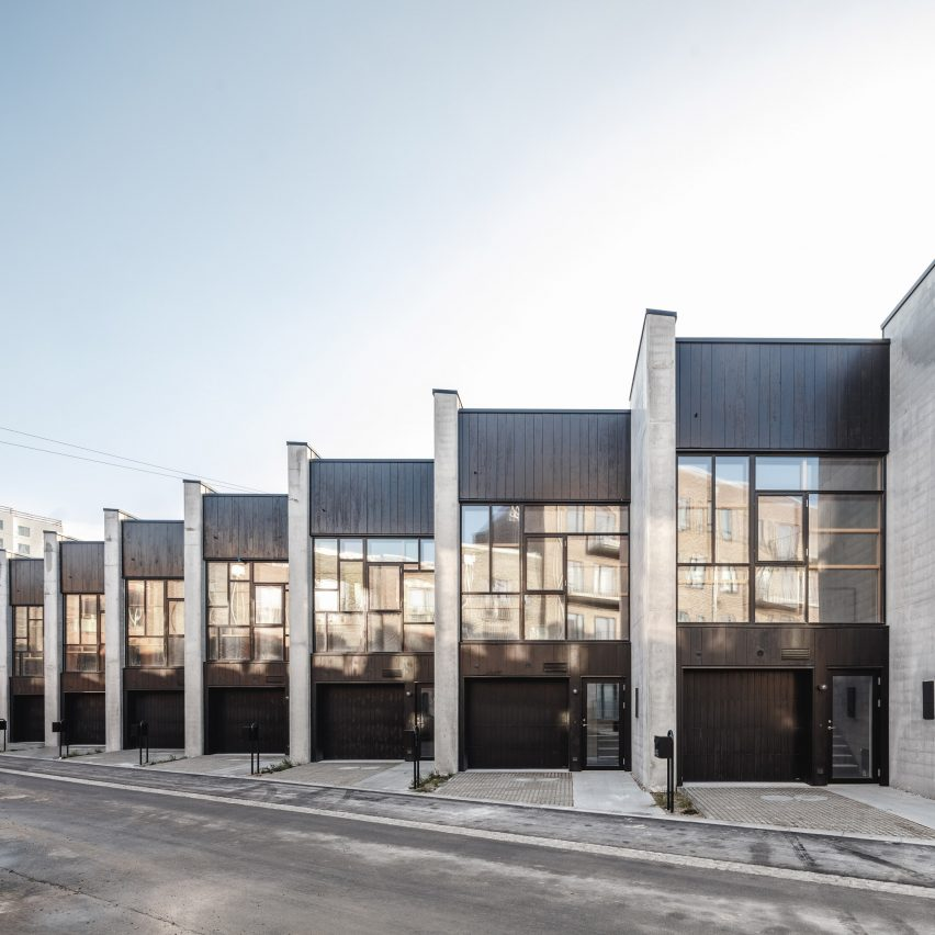 Lendager Group uses recycled materials to build 20 townhouses in Copenhagen