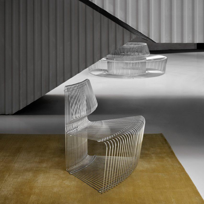 Bond villain chair designed by Verner Panton back in production