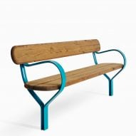 Bench in the Folk outdoor furniture collection by Vestre and Front