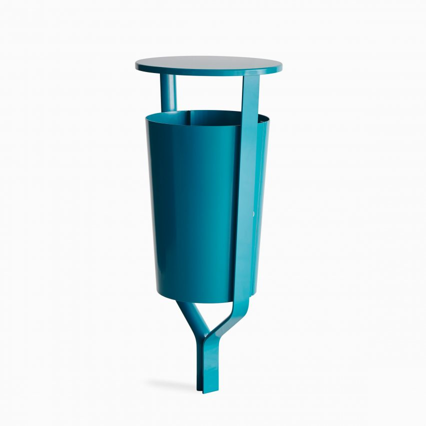 Bin in the Folk outdoor furniture collection by Vestre and Front