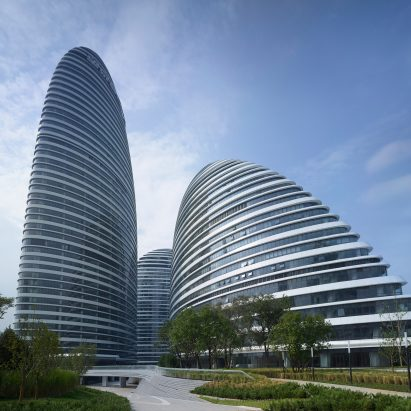 A property developer has won a court case against a website that said the Zaha Hadid Architects design Wangjing Soho had . bad Feng Shui