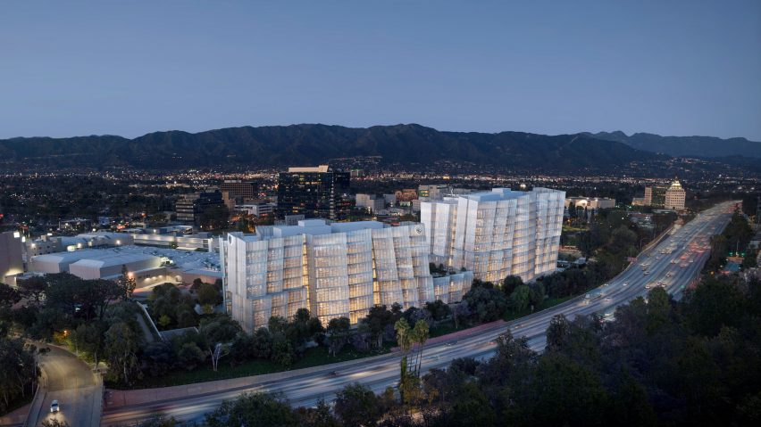 Second Century Project office buildings for Warner Bros by Frank Gehry