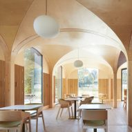 Morris + Company builds vaulted wooden restaurant with aluminium arcade