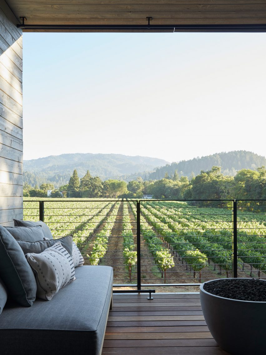 Las Alcobas hotel in Napa Valley by Yabu Pushelberg