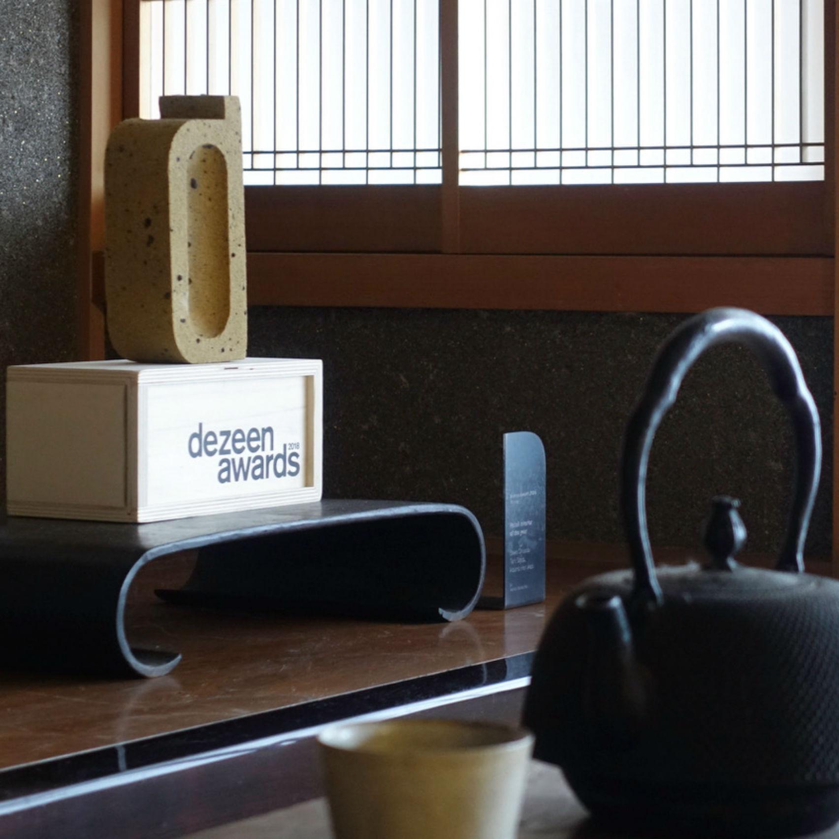 Yagyug Douguten's Dezeen Awards 2018 trophy for retail interior of the year
